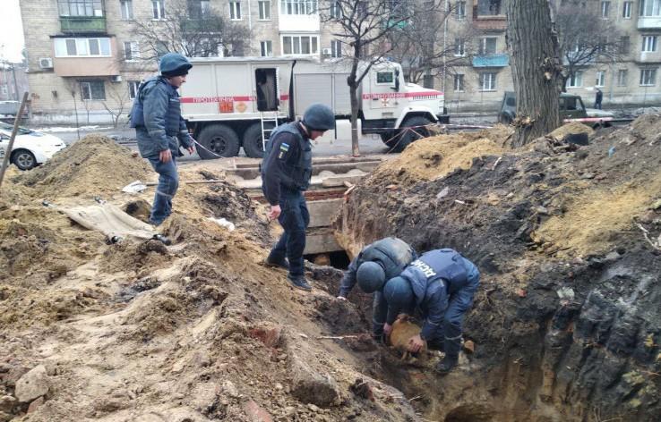 У Харкові відкопали німецьку фугасну авіабомбу