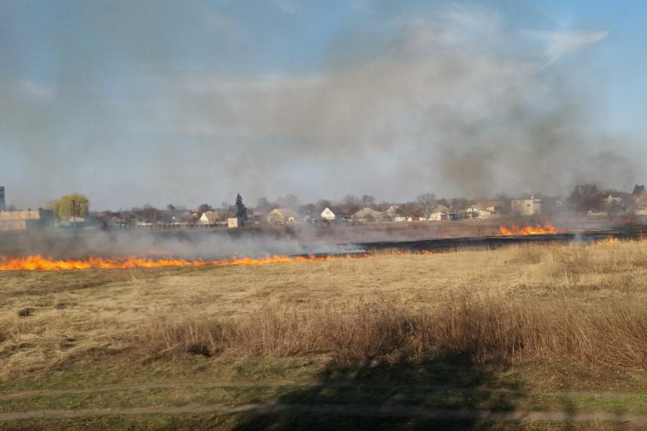 Спалювання трави призвело до трагедії