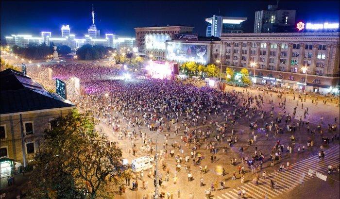 Майдан Свободи для транспорту перекрито