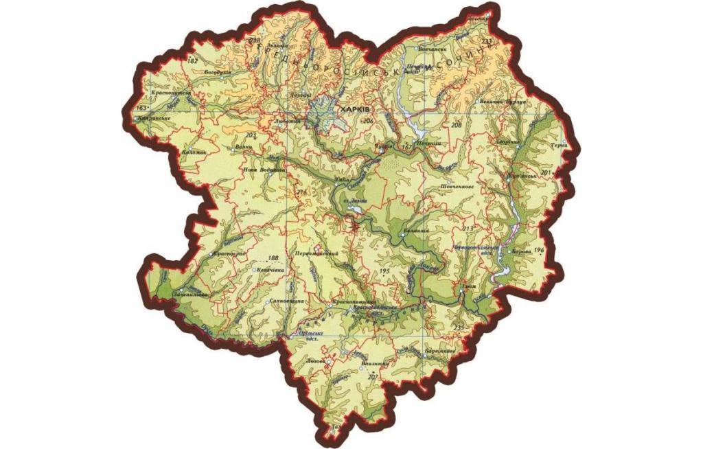 На Харківщині планують залишити чотири райони